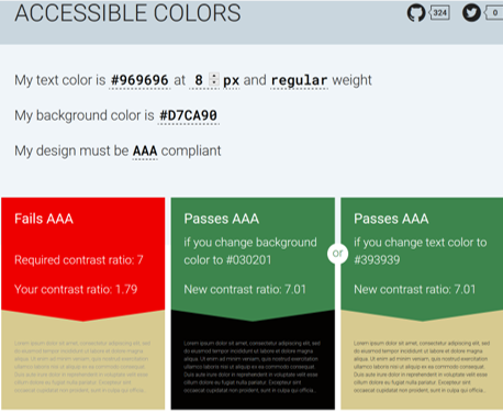 Screenshot of accessibility-colors.com