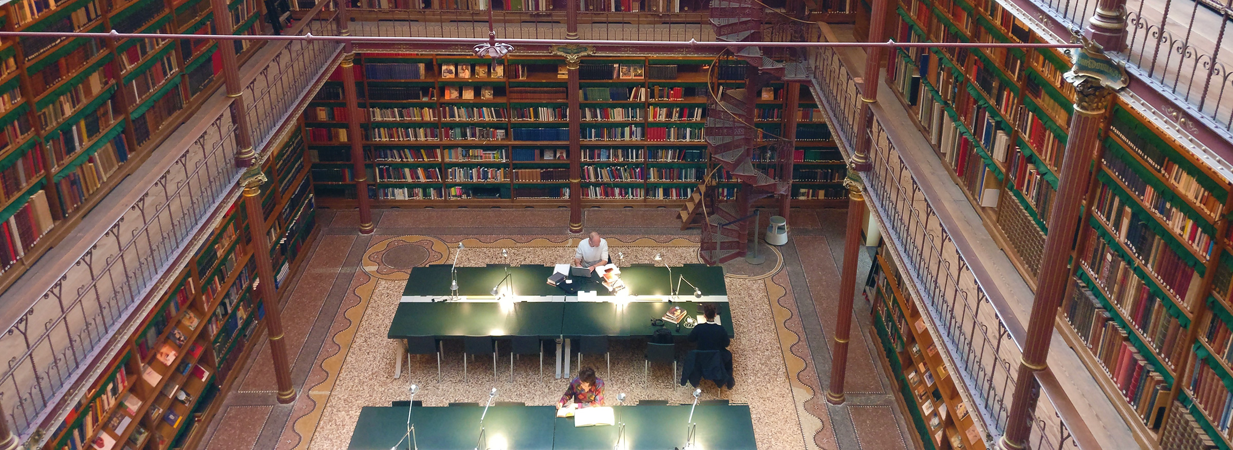 Elyzabeth Gorman Researching at the Rijksmuseum Library
