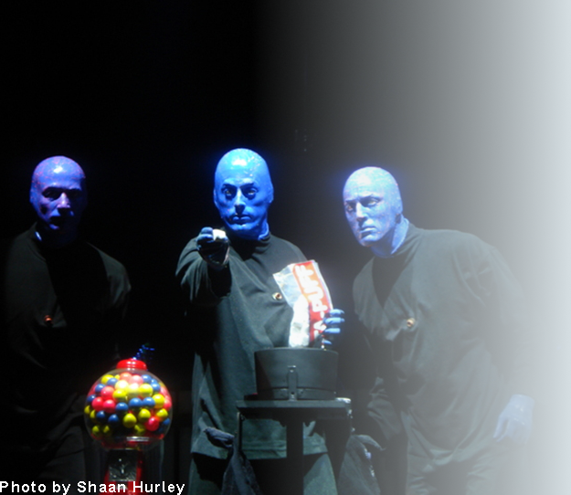 Blue Man Group, Photo by Shaan Hurley